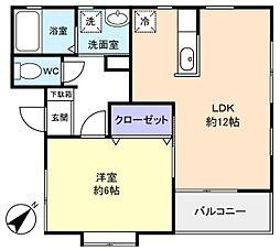 メゾン・ド・八千代[2階]の間取り