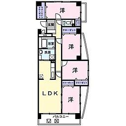グランソレイユ西中央[6階]の間取り