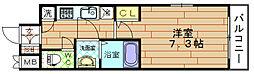 レジュールアッシュ福島CUEZ[3階]の間取り