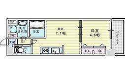 Osaka Metro御堂筋線 西中島南方駅 徒歩2分の賃貸マンション 12階1DKの間取り