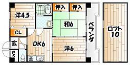 福岡県北九州市八幡東区祇園2丁目の賃貸マンションの間取り