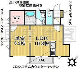 愛知県名古屋市千種区唐山町2丁目の賃貸アパートの間取り