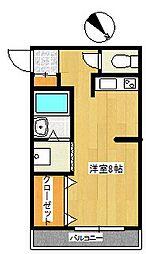 千葉県市川市若宮3丁目の賃貸アパートの間取り