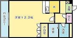 ミレニアムハイツ熊本[106号室]の間取り