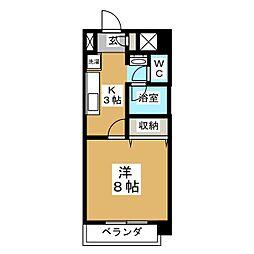 ラ・ステートハウス[1階]の間取り