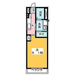 愛知県岩倉市大地町郷内の賃貸マンションの間取り