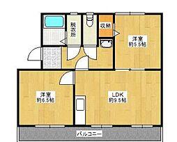 コンチェルト東合川I[4階]の間取り