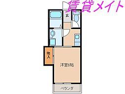 メゾン岡本[2階]の間取り