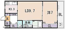 LALLA PALLOOZA[1階]の間取り
