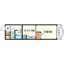 ノルデンハイム新大阪[10階]の間取り