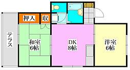ヤングハウス5[102号室]の間取り