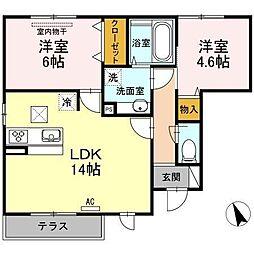 グランディール(東川口)[1階]の間取り