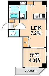 Terrace東浅草[702号室]の間取り