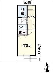 VIEW COURTII[1階]の間取り