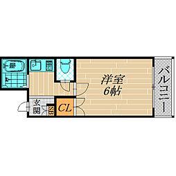サンティール太子橋駅前[2階]の間取り