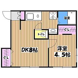 ハイツ善福寺[1階]の間取り