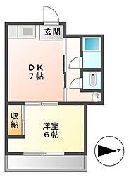 栄ビル[5階]の間取り