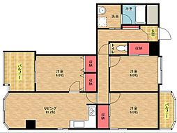 マンシオン・タイラ[8階]の間取り