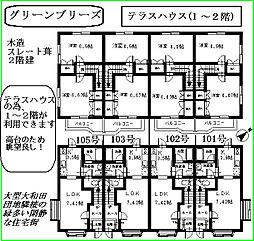 [テラスハウス] 東京都八王子市大和田町5丁目 の賃貸【/】の間取り