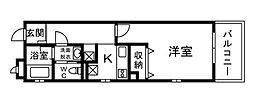 Bleu Gland 湘南[4階]の間取り