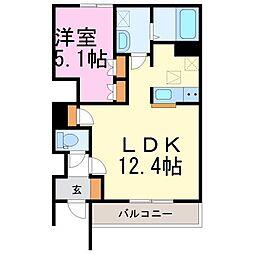 茨城県筑西市幸町3丁目の賃貸アパートの間取り