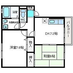 シンフォニックガーデンA棟[1階]の間取り