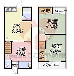 堺市東区草尾戸建 1階3DKの間取り