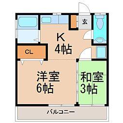 大東荘[1階]の間取り