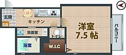 東京都杉並区永福4丁目の賃貸アパートの間取り