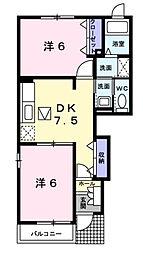 コルティーレ[1階]の間取り