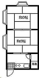 市原マンション[208号室]の間取り