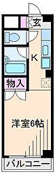 神奈川県横浜市港北区大曽根3丁目の賃貸マンションの間取り