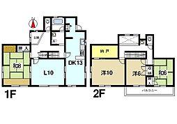 [一戸建] 奈良県奈良市佐保台3丁目 の賃貸【/】の間取り