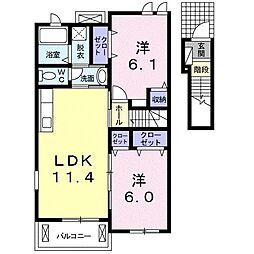 プリムラTK02[2階]の間取り