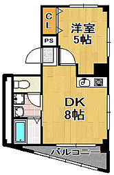 ワンウッドハイツ3[3階]の間取り