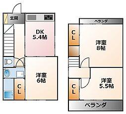 [テラスハウス] 兵庫県西宮市鳴尾町5丁目 の賃貸【/】の間取り