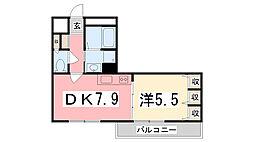 Maison Asahi[2-C号室]の間取り