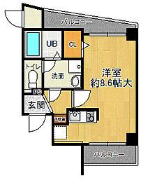 兵庫県伊丹市中央2丁目の賃貸マンションの間取り
