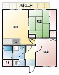 第366川辺ビル[303号室]の間取り