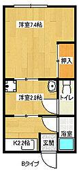東友マンション[3階]の間取り