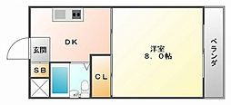 アメニティーハイツ田村[4階]の間取り