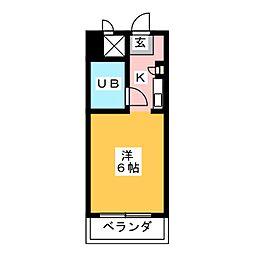 ドール神宮南[2階]の間取り