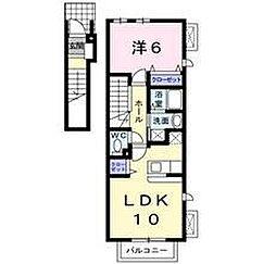 東京都足立区西新井2丁目の賃貸アパートの間取り