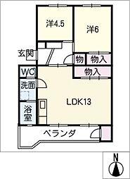 千代田ハイツB棟 104号室[1階]の間取り