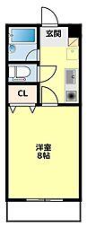 愛知県豊田市井上町5丁目の賃貸マンションの間取り