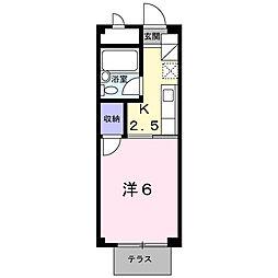 コーポユリ[1階]の間取り