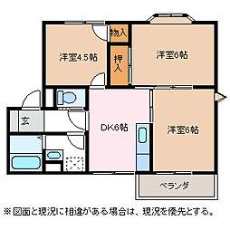 コンフォートアカハネ[2階]の間取り