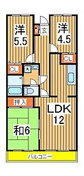 第十パールメゾン蒲田[205号室]の間取り
