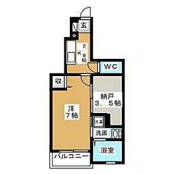 プリミエール[1階]の間取り