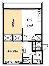 宮本アパート[503号室]の間取り